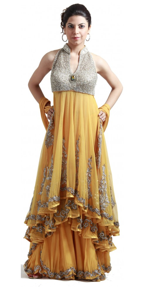 Yellow Banarasi Sharara