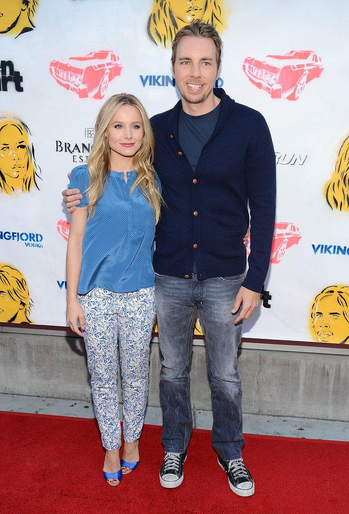Kristen Bell and Dax Shepard posed together on the red carpet before screening their film.