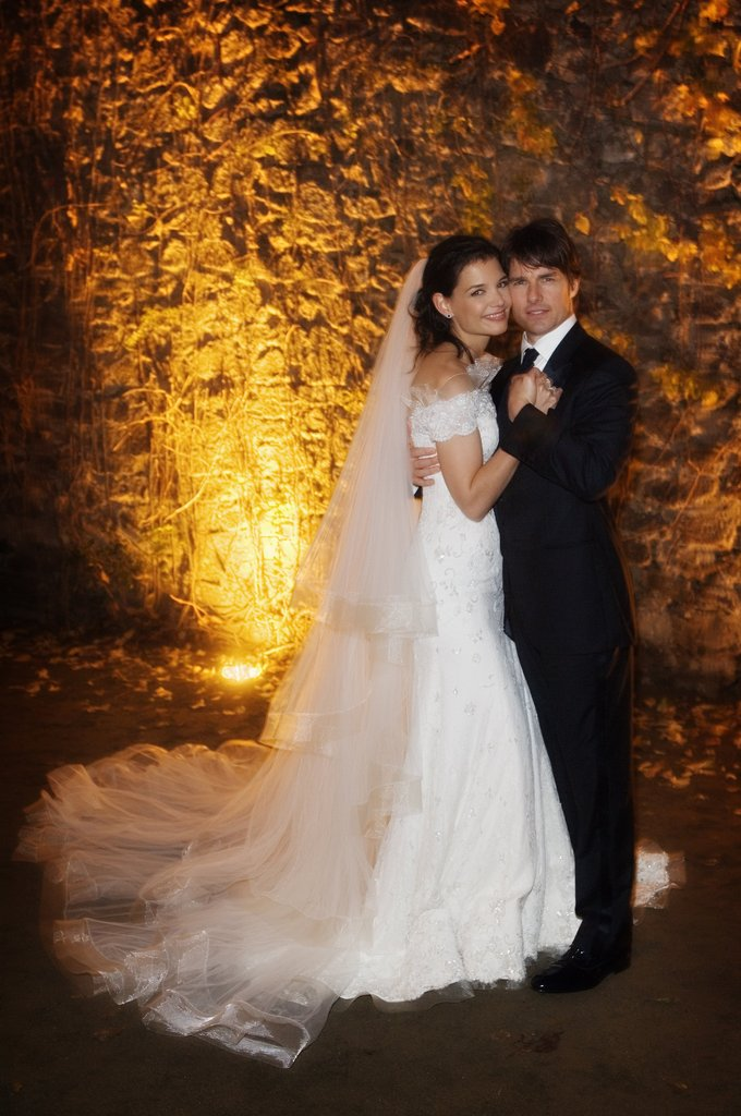 Tom Cruise and Katie Holmes's wedding portrait.
