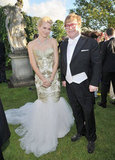 Naomi Watts wore Marchesa to pose with Elton John.