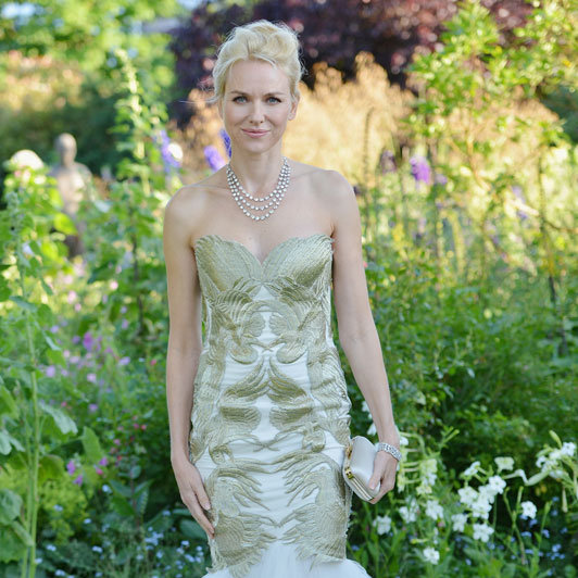Naomi Watts wore Marchesa.