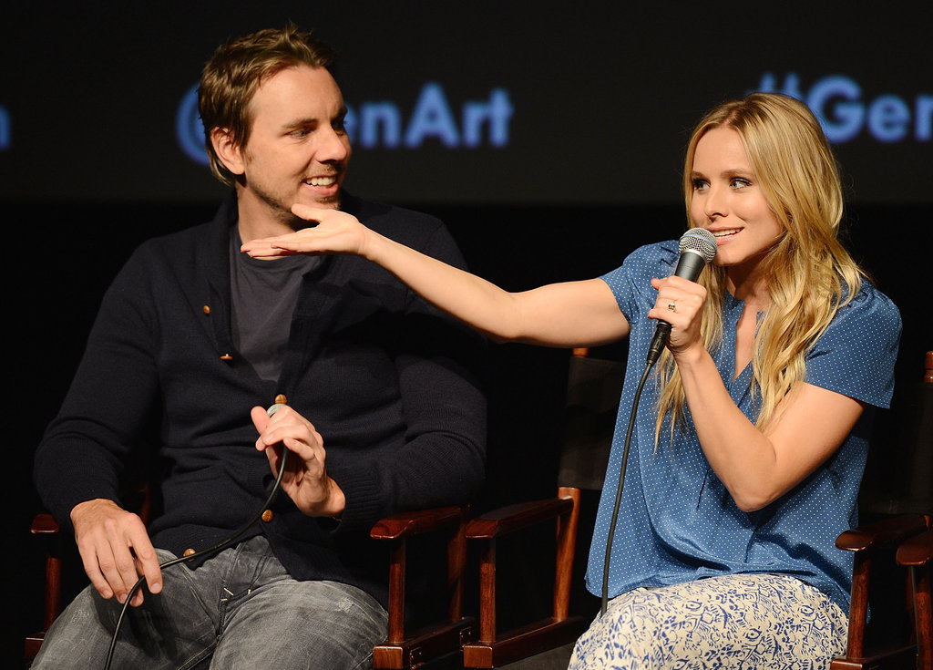 Kristen Bell was animated on stage at the Hit and Run screening.