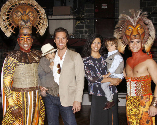 Matthew McConaughey Takes His Little Ones to See The Lion King