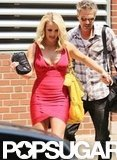Britney Spears walked with Jason Trawick.