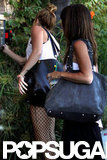Miley Cyrus Pairs Her Fishnets and Short Shorts