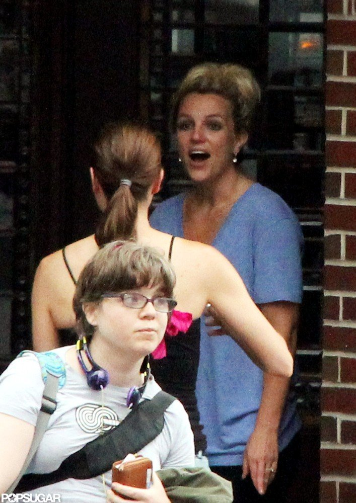 Britney Spears laughed in Rhode Island.