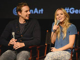 Dax Shepard was all smiles as his leading lady Kristen Bell took over the microphone.