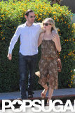 Kate Bosworth and Michael Polish walked with their arms around each other in Beverly Hills.
