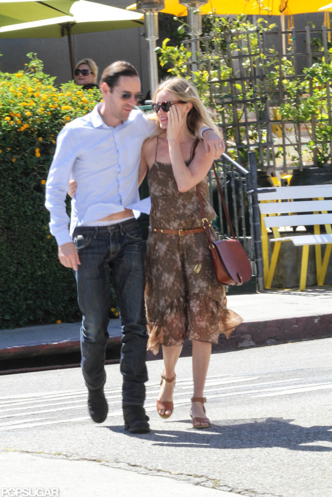 Kate Bosworth and Michael Polish walked and talked as they left Lemonade in Beverly Hills.