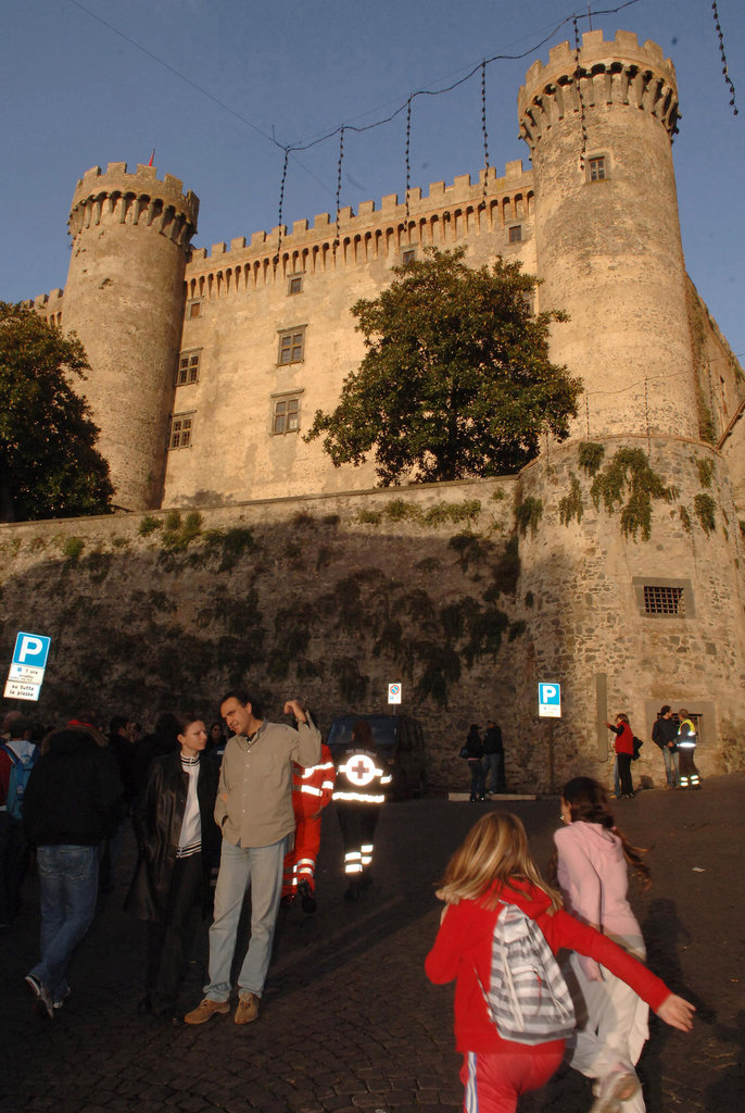 A view of Castello Odescalchi, where Tom Cruise and Katie Holmes got married.