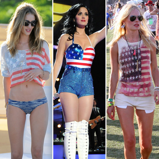 With the Fourth nearly here — these celebrities' patriotic looks are just the thing to inspire you.