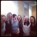 Do our noses look big in this? Remember to buy a Red Nose today to support Sids and Kids!