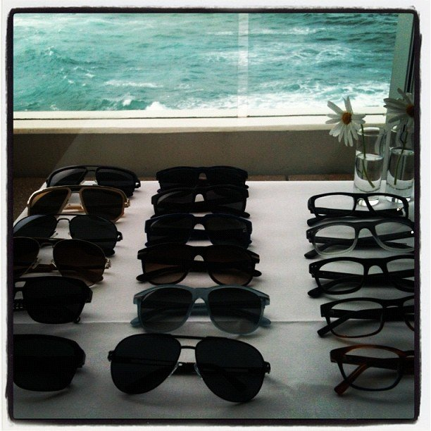 Ali went to Bondi Icebergs to check out the new Morrissey eye wear.