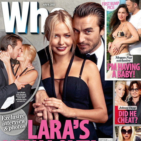 Lara Bingle Pictures With Boyfriend Gareth Moody in Who Magazine
