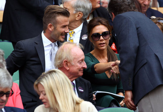 Victoria and David Beckham looked picture perfect in the stands at Wimbledon together.