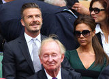 David Beckham and Victoria looked cute together in the stands.