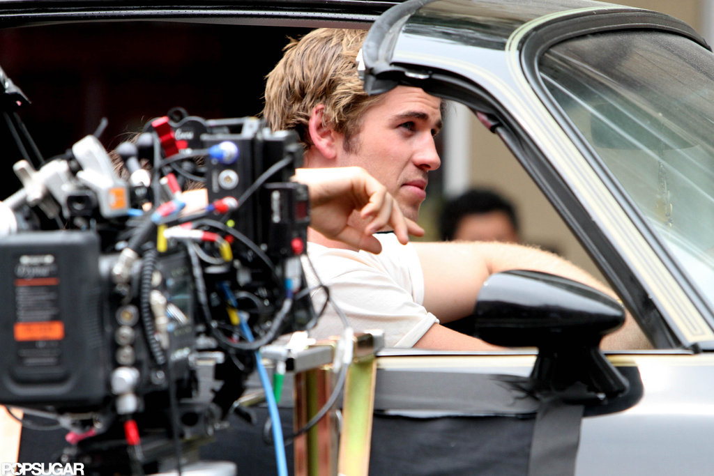 Liam Hemsworth Gets Sexy on Set in Empire State