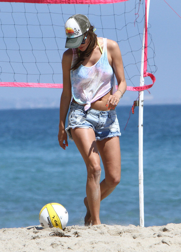 Alessandra Ambrosio Spends Bikini Time on the Beach With Friends