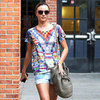 Miranda Kerr&#039;s Round Print Sunglasses