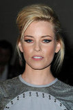 Elizabeth Banks attended the Versace fashion show in Paris.