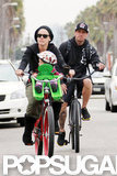 Pink, Carey Hart, and Willow Hart enjoyed an LA bike ride.