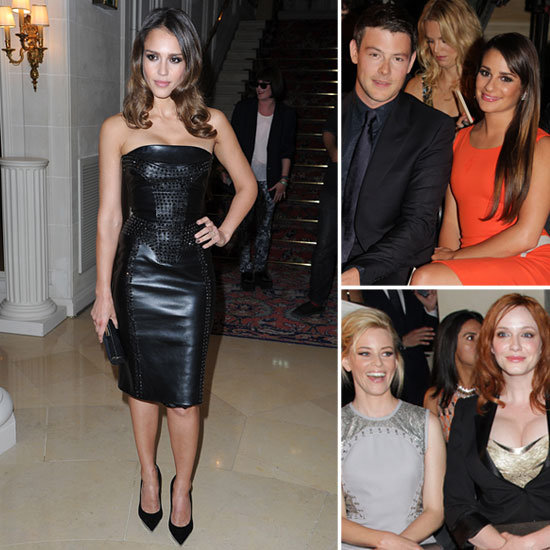 Lea Brings Her Man to Sit Front Row at Versace With Jessica, Elizabeth, and Christina