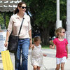 Jennifer Garner, Violet, and Seraphina Before Fourth of July