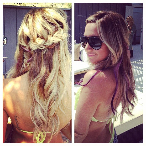 Ashley Tisdale showed off her braided hairstyle. Source: Instagram User ashleytis
