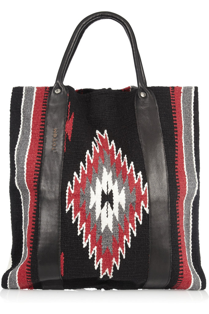 """I'm ditching my heavy leather satchel this Summer for this awesome (and eco-friendly) Navajo tote. I love the idea of pairing it with a white blazer and crisp trouser shorts for a sleek work-appropriate ensemble."" — Chi Diem Chau, associate editor TOTeM Salvaged Leather-Trimmed Cotton Tote ($300)"