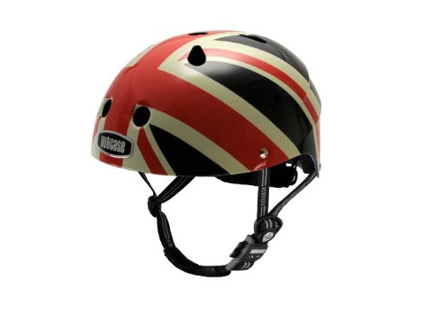 Cruise in the Nutcase Little Nutty Union Jack Bike Helmet ($55)
