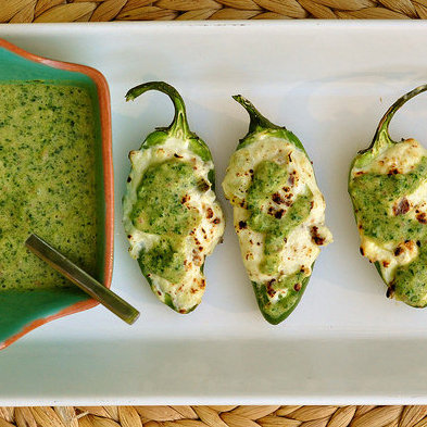 Grilled & Stuffed Jalapeños