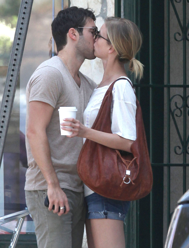 Emily VanCamp kissed Joshua Bowman in LA.