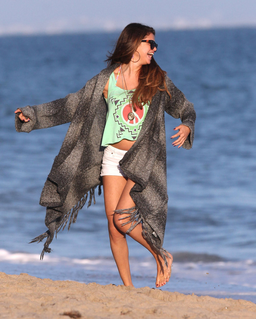Selena Gomez had fun on the beach for Ashley Tisdale's birthday.