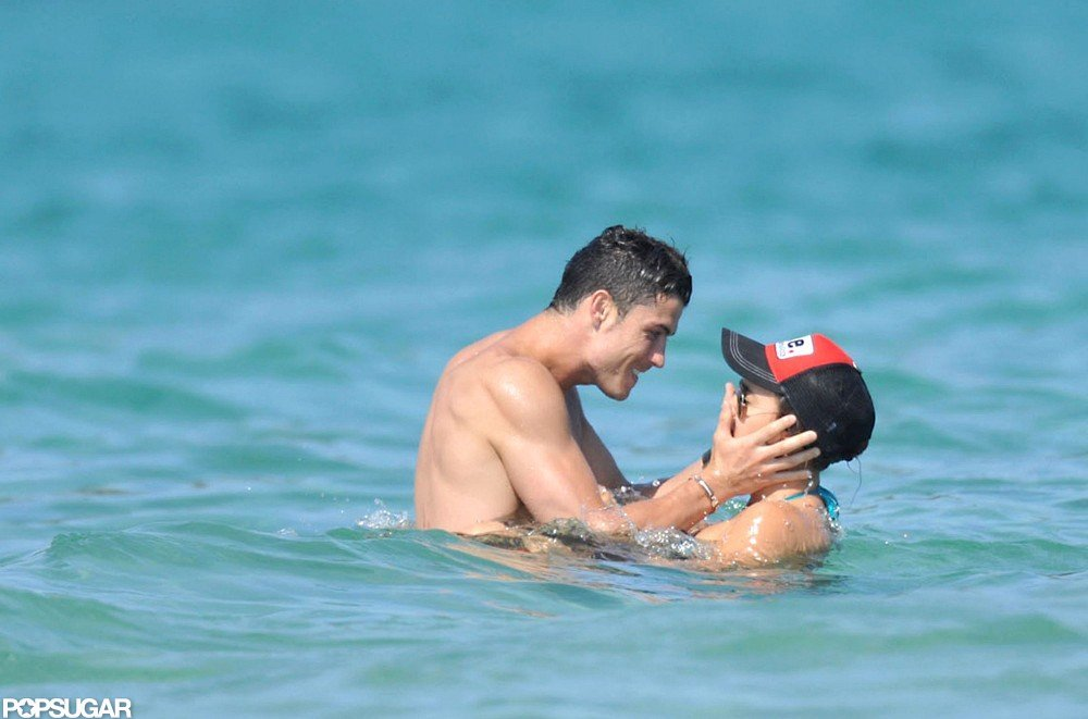 Soccer star Cristiano Ronaldo and girlfriend Irina Shayk let loose on a July 2012 beach vacation in Saint-Tropez.