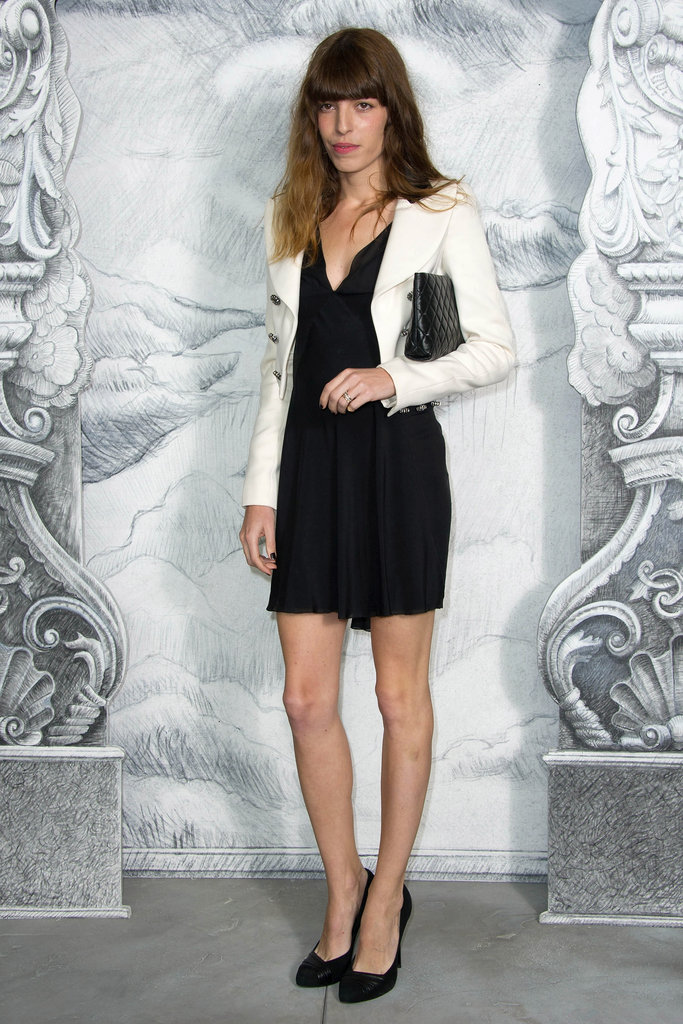Lou Doillon topped her LBD with Chanel's little white jacket.