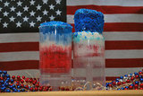 Red, White, and Blue Cake Push-Ups
