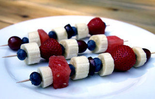 Low Calorie Red, White, and Blue Snack or Dessert
