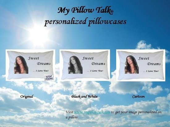 My Pillow Talk personalized pillowcases
