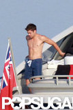 Zac Efron got shirtless on a boat while celebrating the Fourth of July in Saint-Tropez in 2012.