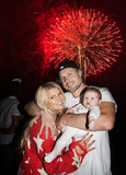 Jessica Simpson and Eric Johnson showed baby Maxwell her first fireworks in July.  Source: Twitter user JessicaSimpson