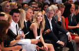 Kate Bosworth sat front row at a fashion show in Berlin.