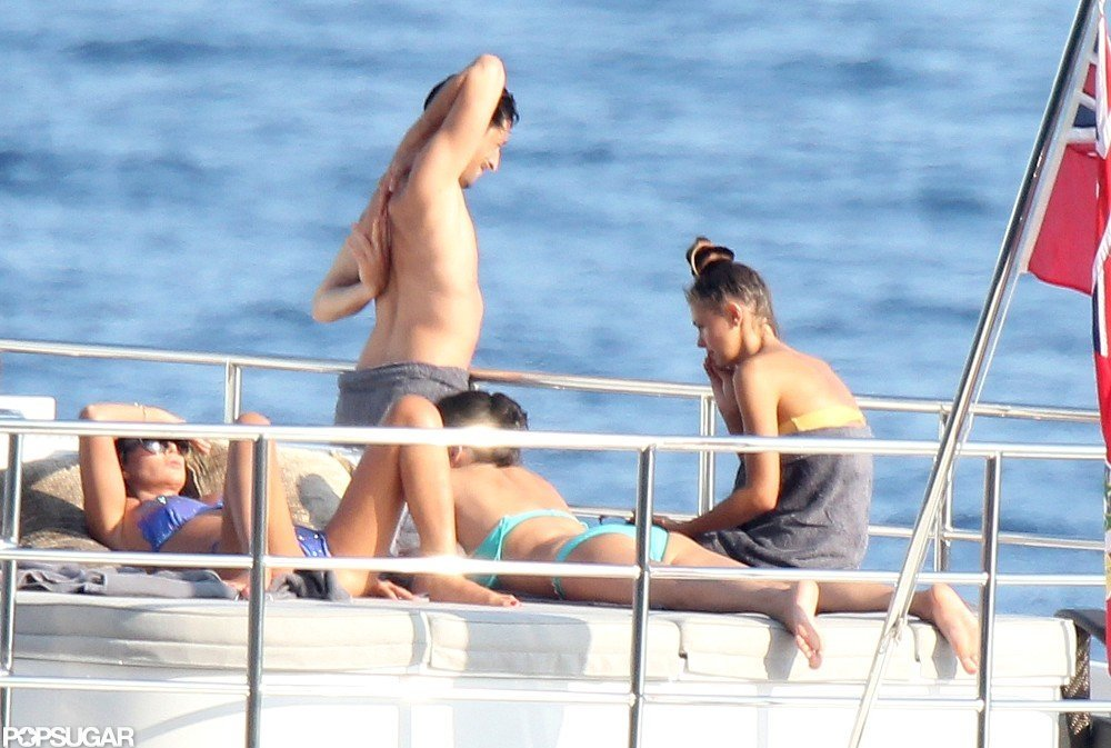 Adrien Brody Caps Off a Shirtless Swim With Sexy PDA