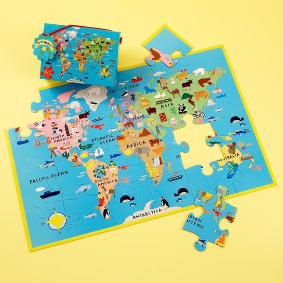 All Over the Map Floor Puzzle ($17)