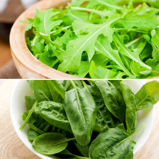 Arugula and Spinach