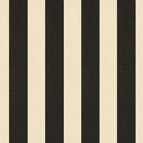 You can't go wrong with a classic choice, like this Canopy Stripe Black and Sand Sunbrella Fabric ($25 per yard).