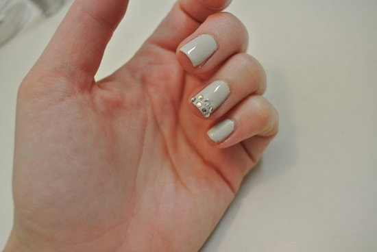 DIY Nail Art: Diamante Feature Nails