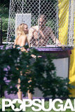 Ryan Reynolds was shirtless in a dunk tank with Blake Lively by his side on the Fourth of July.