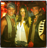 Alessandra Ambrosio hung out with pirates in LA.  Source: Instagram user alecambrosio