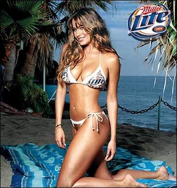 Sofia Vergara slipped into a bikini for a Miller Lite ad.