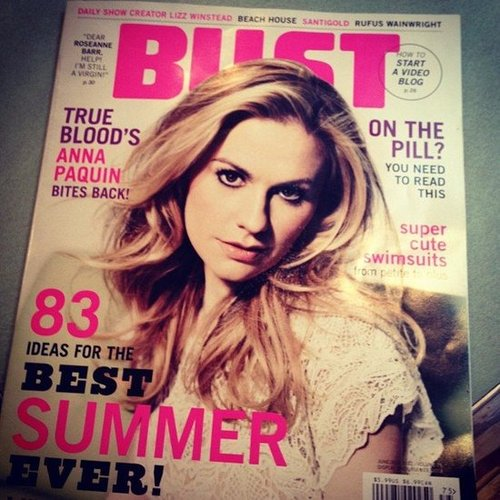 "Susimay was diving into Bust magazine. She said, ""Love this mag and love that my hubbie picked it up for me when he was grocery shipping. So many good things!"""